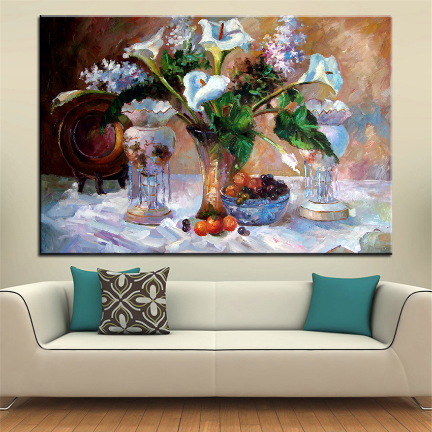 Best New fashion print no 221 flower wall painting Amazing oil ...