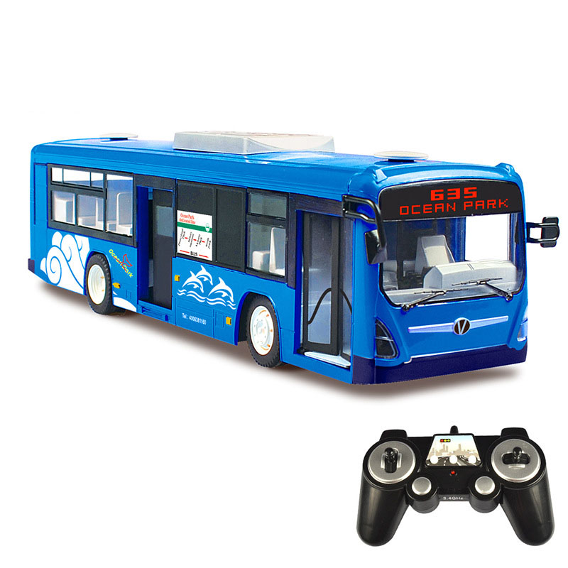 цена  2017 New Bus Motel Simulation City Bus Remote Control Car Rechargeable Children's RC Toys RC16(1)  онлайн в 2017 году