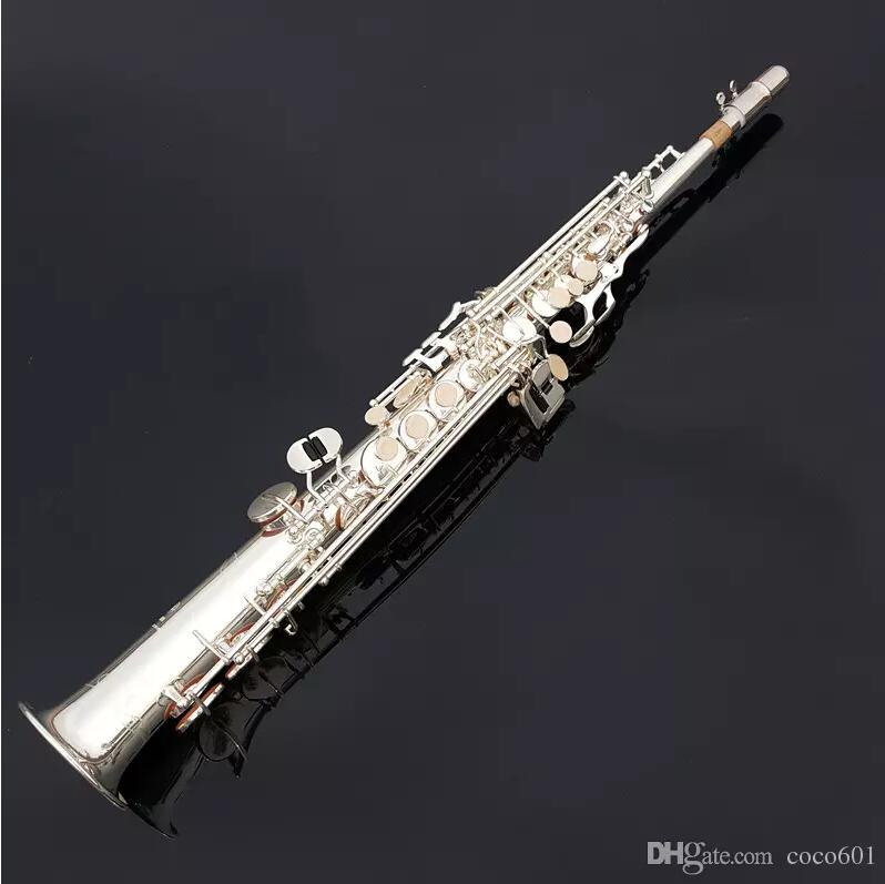 Nuevo Japón Yanagisawa S901 B plano Soprano recto saxofón plata profesión instrumentos musicales y boquilla gratis