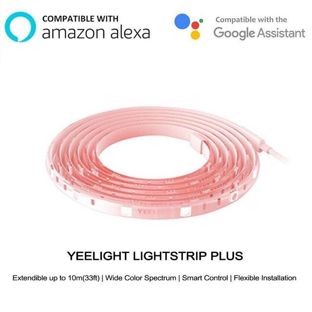 עדכון גרסת xiaomi mi jia yeelight אור רצועת בתוספת LED אור להקת להארכה עד 10 m חכם עבור mi בית yeelight App Wifi