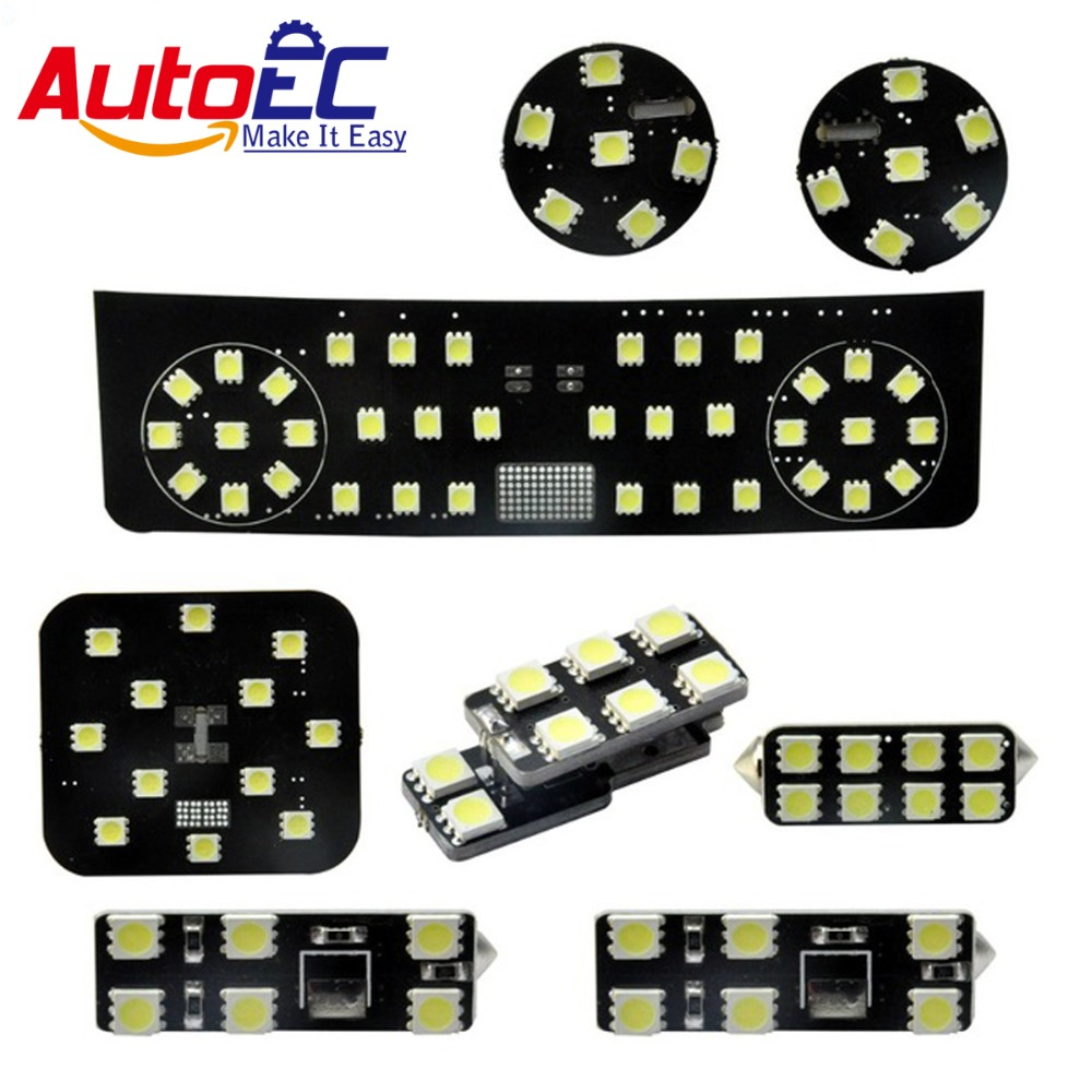цены  AutoEC 8pcs/set car Led truck lamp Interior panel lights Dome&Map Reading Light Lamp kit for Volkswagen VW PASSAT R36 #LDK06