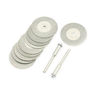 10PCS 30x1mm Aluminum Resin Bond Diamond Coated Grinding Wheel Gray W Drill Bits