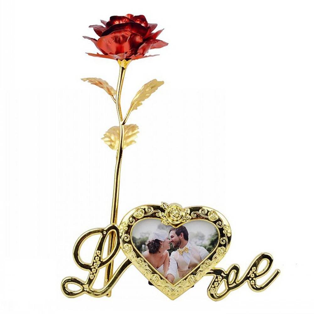 Artificial Flower In Love Display Stand Holder for Birthday Christmas Wedding Home Decor Flower Roses Display Base