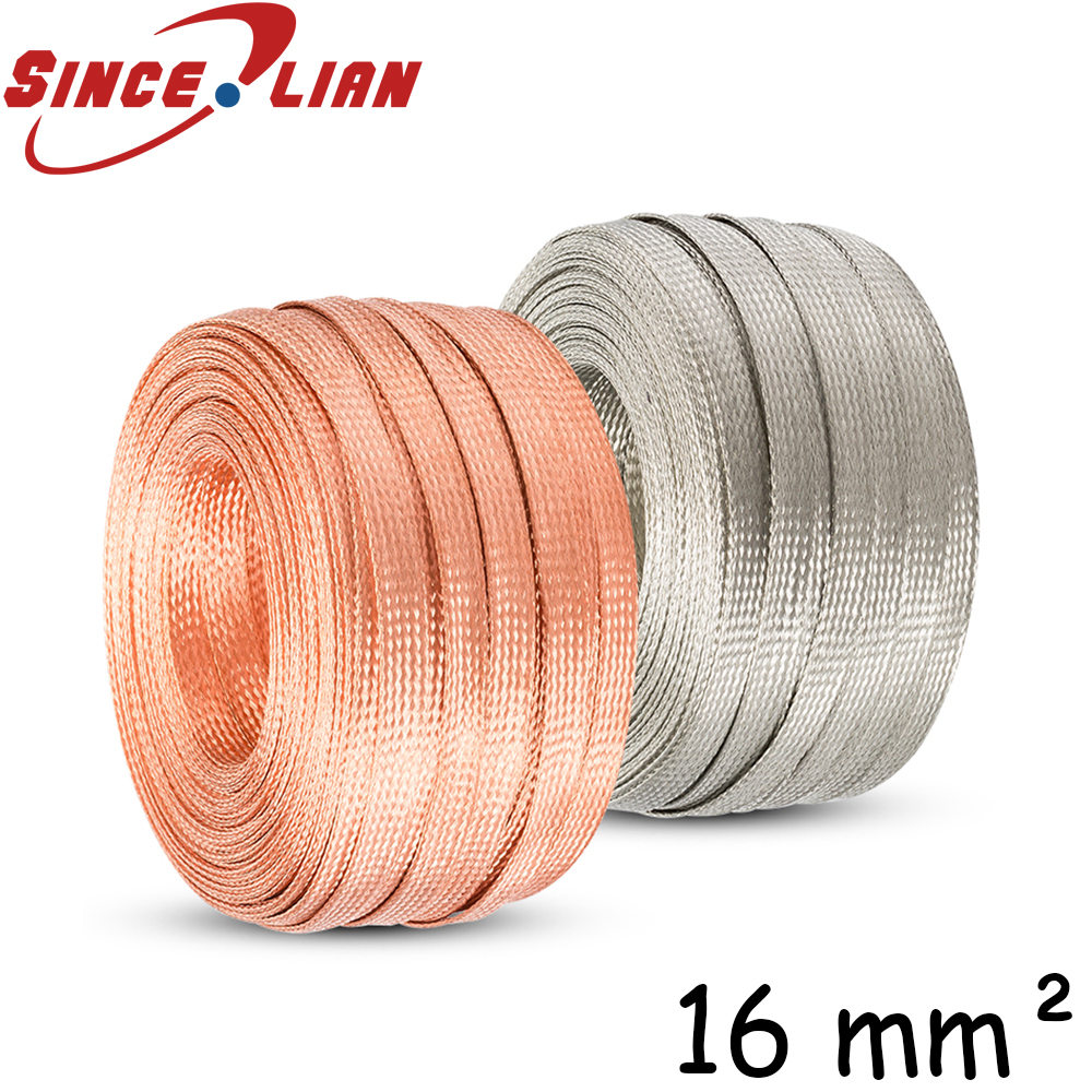 Flat Braid Tinned Copper Cable Wire Battery Ground Strap More Length Cut by Foot 100 FT 1//2 Wide