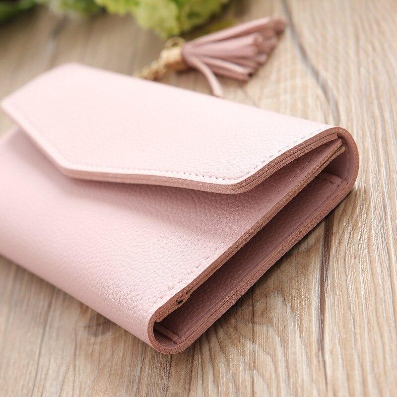 Arsmundi 2019 Long Hasp Wallet Women Purses Clutch Heart-shaped Tassel Lychee Leather Carteira Feminina Card Holder Lady Wallets #4