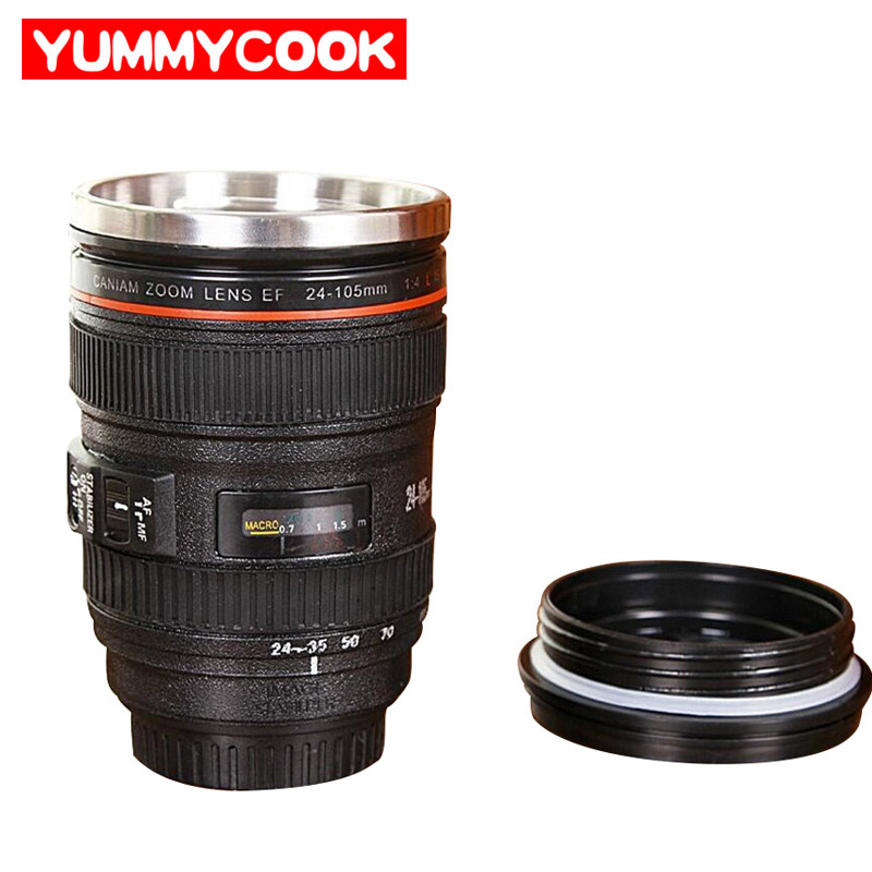 Camera Lens Stainless Steel Funning Cool Beer Water Bottles Healthy Drinkware Kitchen Dining Home Accessories Supplies Stuff