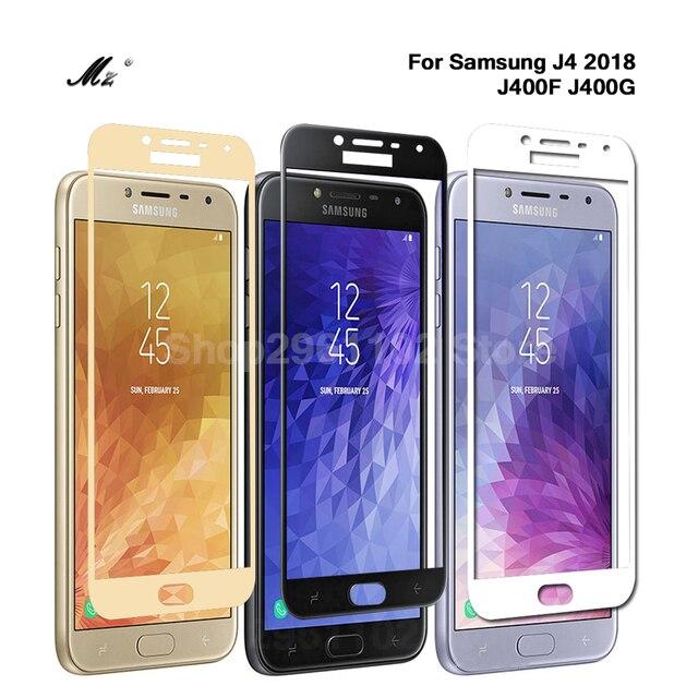2pcs עבור Samsung J4 2018 מגן זכוכית לסמסונג גלקסי J4 2018 j 4 4j J400F J400 מסך מגן סרט J42018 J4Plus גלאס