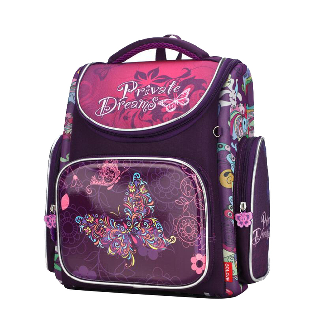 2018 Children School Bags For S Orthopedic Waterproof Backpacks Child Purple Erfly Book Bag Fold Satchel