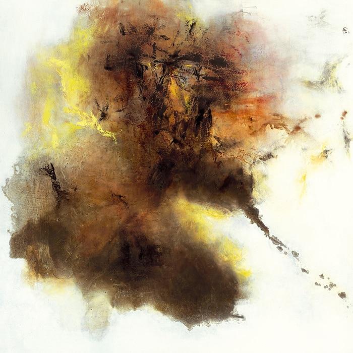 Chinois abstraite art sans cadre toile peintures chef d for Artiste peintre chinois