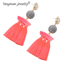 YONGMAN JEWELRY  Tassel Earrings Dangle Round Ethnic Bohemian Long Earrings for Women Big Fringed Drop Earrings Vintage Jewelry