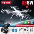Alta qualidade syma x5sw x5sw-1 fpv quadcopter zangão rc com câmera de 2mp wifi câmera hd 2.4g 6-axis helicóptero rc toys com vs jjrc h8 H31