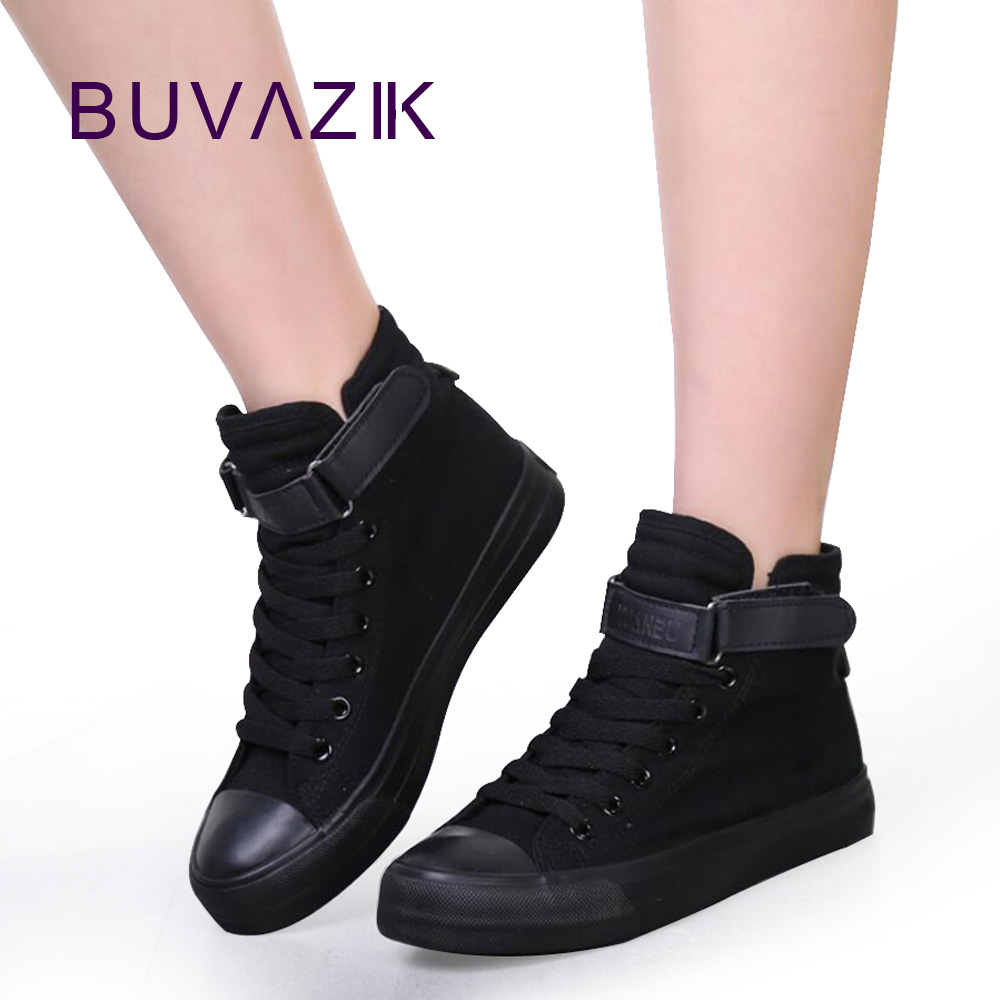 all black canvas shoes women casual shoe sneakers zapatos ...