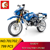 Senbao 701702 799 PCS Technology Series Revolving Motorcycle Children Assemble Particle Toy Building Blocks