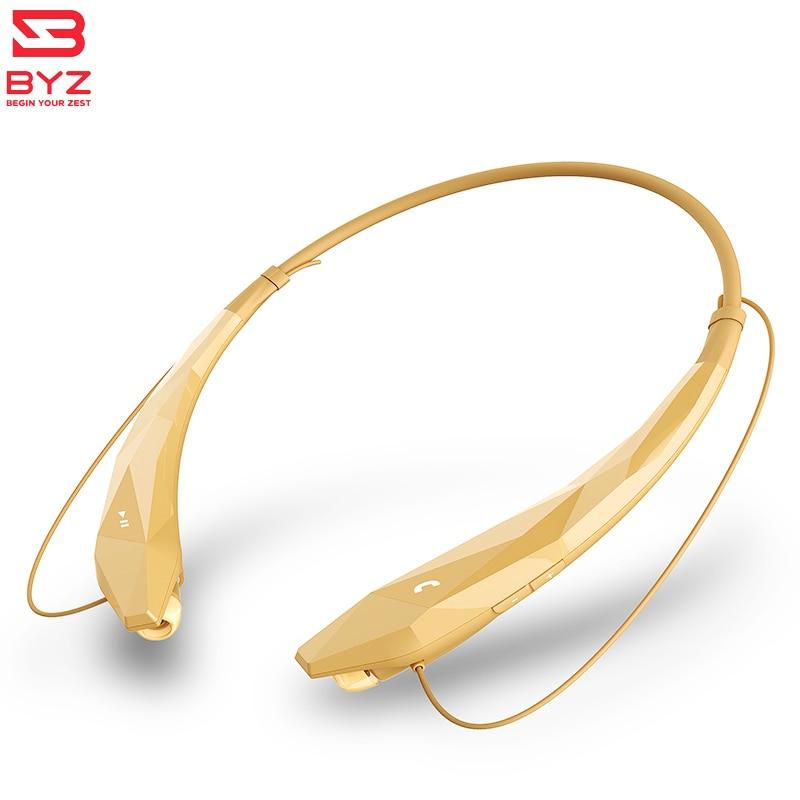 Sports Wireless bluetooth earpiece hands free blutooth stereo in ear Neckband Earphones with Mic for iPHONE XIOMI BYZ YN002 bass