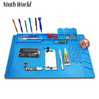 Ninth World Heat Insulation Silicone Pad Desk Mat Maintenance Platform For BGA Soldering Repair Station With