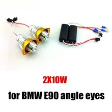 new arrival hot 10WX2 LED Marker Angel Eyes Kit Xenon White high power for BMW E90 E91