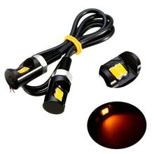 Mayitr 2 stuks Amber 2LEDS Motorfiets Auto Nummer Kentekenverlichting 12V Schroef Bolt Bulb Lamp Voor Meest auto Motorfietsen
