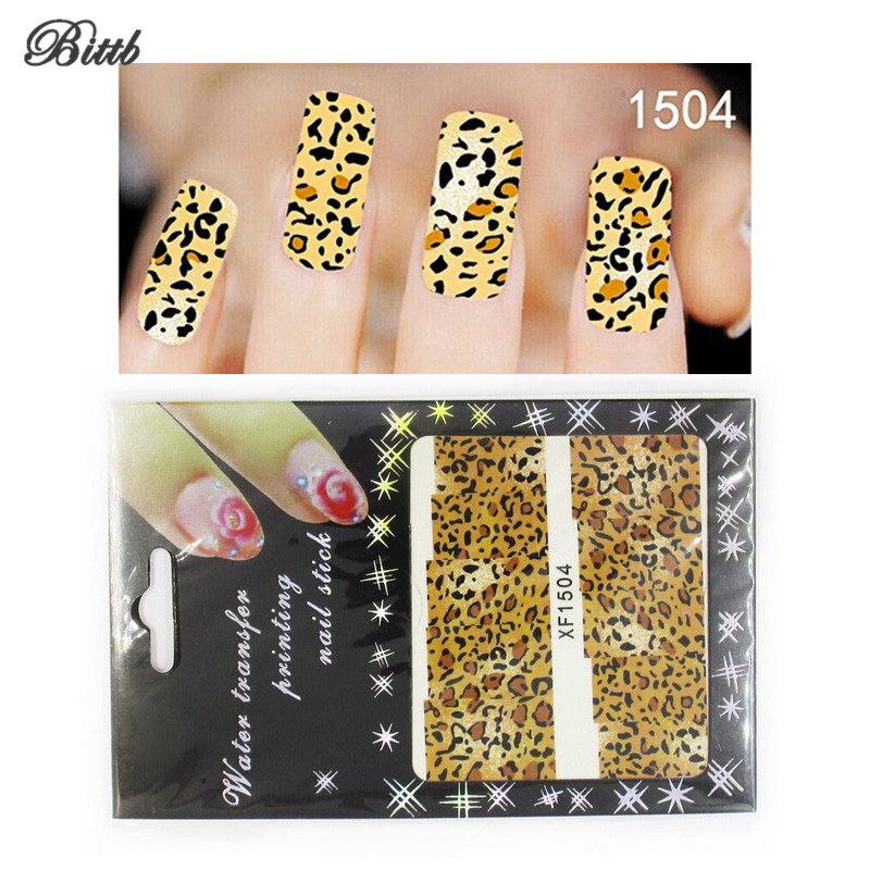 Diy Snow Leopard Nail Art: Bittb Nail Art Stickers Piebald Leopard DIY Fingernail