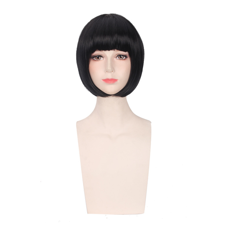 Anime Noragami Nora Women Short Black Wig Cosplay Costume Heat Resistant Synthetic Hair Halloween Party Wigs
