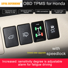 Buy OBD TPMS tire pressure monitoring for Honda Civic Spirior Accord Fit etc Hybrid auto security alarm system car modification directly from merchant!