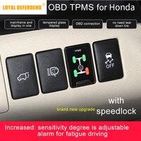 OBD TPMS tire pressure monitoring for Honda Civic Spirior Accord Fit etc Hybrid auto security alarm system car modification