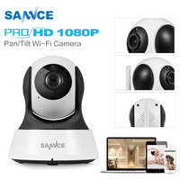 SANNCE Smart Wireless 1080P HD IP Camera 2MP CCTV Security Camera 1080P home indoor WiFi Camera Baby Monitor two way Audio
