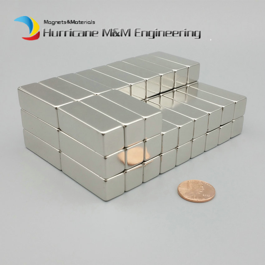 1 Pack Grade N42 NdFeB Magnet Block 38.1x12.7x12.7 mm 1-1/2*1/2*1/2 Strong Neodymium Permanent Magnets Rare Earth Magnets 79kg pulling ndfeb magnet block 50x30x10 mm 2 strong neodymium permanent magnets 2 rare earth magnets grade n42 nicuni