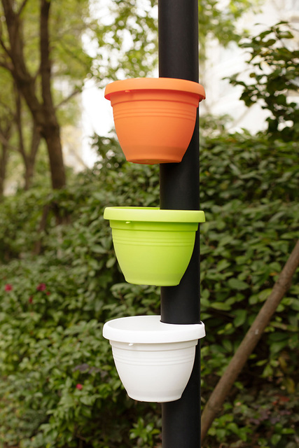 tubo de drenaje efecto terracota flor macetas tinas drain pipe jardn jardineras