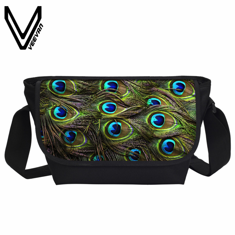 d9a30999c2b5 US $15.99 36% OFF|VEEVANV Fashion Women Messenger Bags Colorful Peacock  Feather Printing Crossbody Bag Men's Shoulder Bag Travel Postman  Briefcase-in ...
