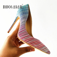 2019 Top Quality Brand Fashion Women Pumps Patent Leather 12/10/8CM High Heels Women Shoes Sexy Ladies Party Wedding Shoes