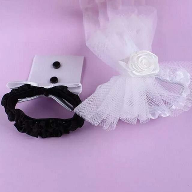 placeholder 2 PCS Cup Decor Bride   Groom Tux Bridal Veil Wedding Party  Toasting Wine Glasses Cup 791c2541da67