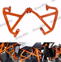 Engine Bumper Guard Crash Bars Frame Protector Orange For 2013 2014 2015 2016 KTM Duke 690