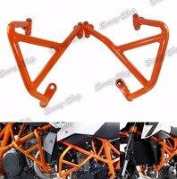 Engine Bumper Guard Crash Bars Frame Protector Orange For 2013 2014 2015 2016 KTM Duke 690