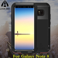 Note 8 Case Original LOVE MEI Life Armored Aluminium Metal Shockproof Phone Case for SAMSUNG Galaxy Note8 Full protection Covers