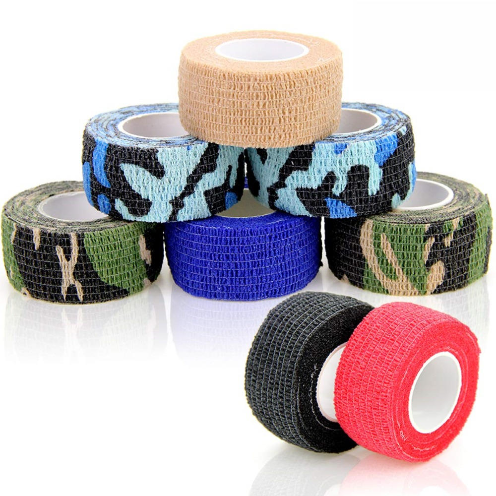 8 Rolls 2.5cm Width Finger Elastoplast Self Adhesive Bandage Cohesive Bandages Adherent Wrap Pet Tape