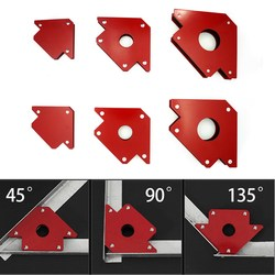 6 sztuk wielokątny magnes uchwyt spawalniczy strzałka zacisk magnetyczny do spawania magnes 2x 50lbs 2x 25lbs 2x 75lbs Mig narzędzie