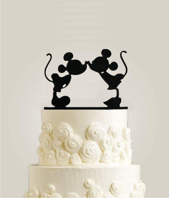 Aliexpress.com : Buy Acrylic Mickey Minnie Cake Topper for Wedding ...