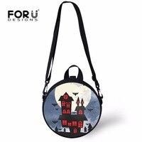 FORUDESIGNS Halloween Backpack For Kid Boys Girls Fashion Messenger Shoulder Bag Kindergarten Cross Body Bags School