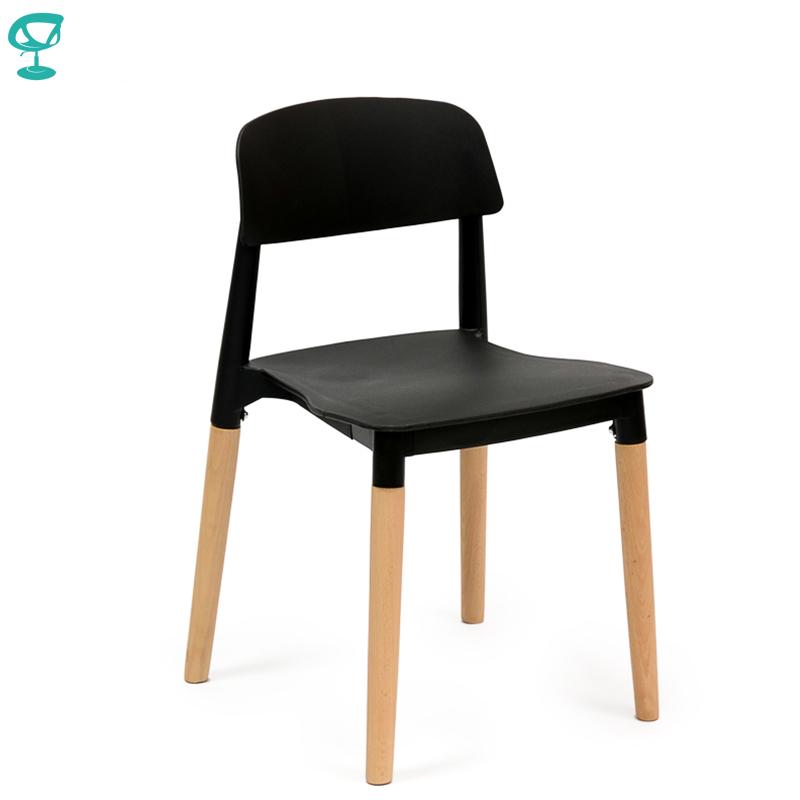 94930 Barneo N-220 Plastic Wood Kitchen Breakfast Interior Stool Bar Chair Kitchen Furniture Black Free Shipping In Russia