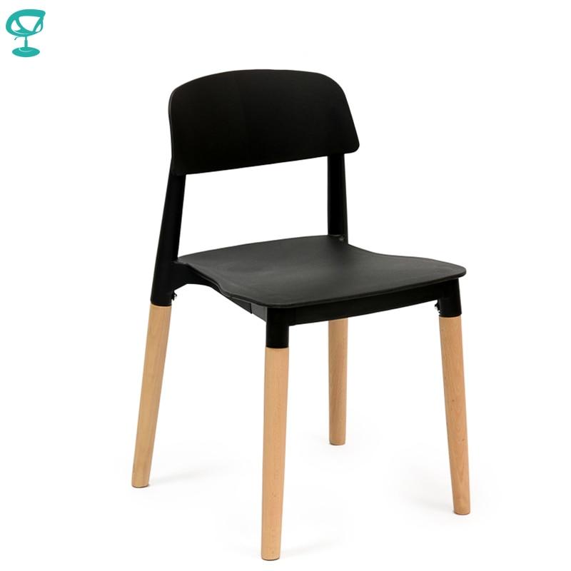 94930 Barneo N-220 Plastic Wood Kitchen Breakfast Interior Stool Bar Chair Kitchen Furniture Black Free Shipping In Russia