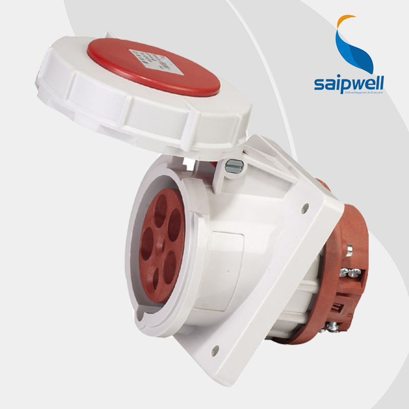 цена на Wholesale Saipwell IP67 waterproof socket with cover 400V 63A 5Pin Heavy Duty Industrial coupler EN / IEC 60309-2 type SP-209