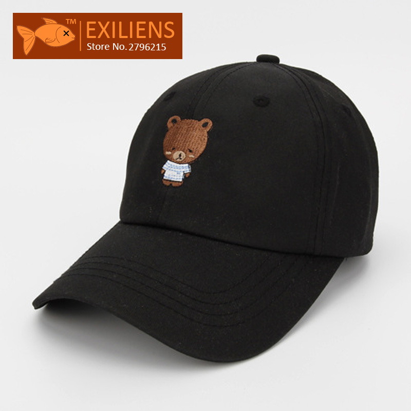 2017 New Fashion Brand Breathable Bear 2 Colors Snapback Caps Strapback Baseball Cap Bboy Hip-hop Hats For Men Women Fitted Hat 2016 new new embroidered hold onto your friends casquette polos baseball cap strapback black white pink for men women cap