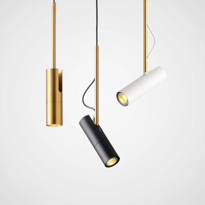 LukLoy chevet pendentif vers le bas lumière pendaison cuisine Suspension lampe LED Spot éclairage LED vers le bas lumière réglable Downlight Hanglamp