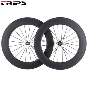 Image 5 - 38mm 50mm 60mm 88mm carbon rims 700C clincher road wheels R36 Ceramic hub tubular Basalt brake Carbon Bicycle road bike Wheelset