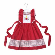 Puresun New Fashion Baby Girl dress Unicorn Red Dress Summer Clothes Zipper Outfit With Belt Toddler Clothing Boutique Dress(China)