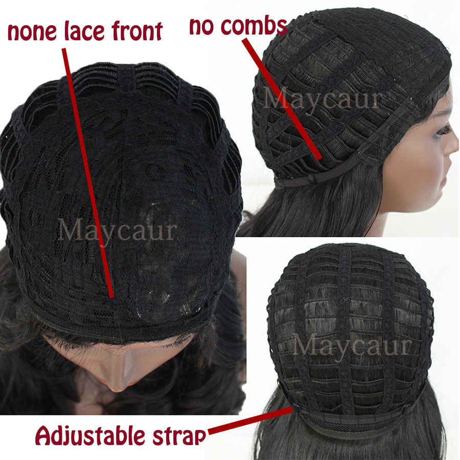 Image 5 - 180% Density Wigs Black Long Curly Hair Glueless Synthetic Wigs For Black Women Free Bangs Full Machine Made-in Synthetic Lace Wigs from Hair Extensions & Wigs