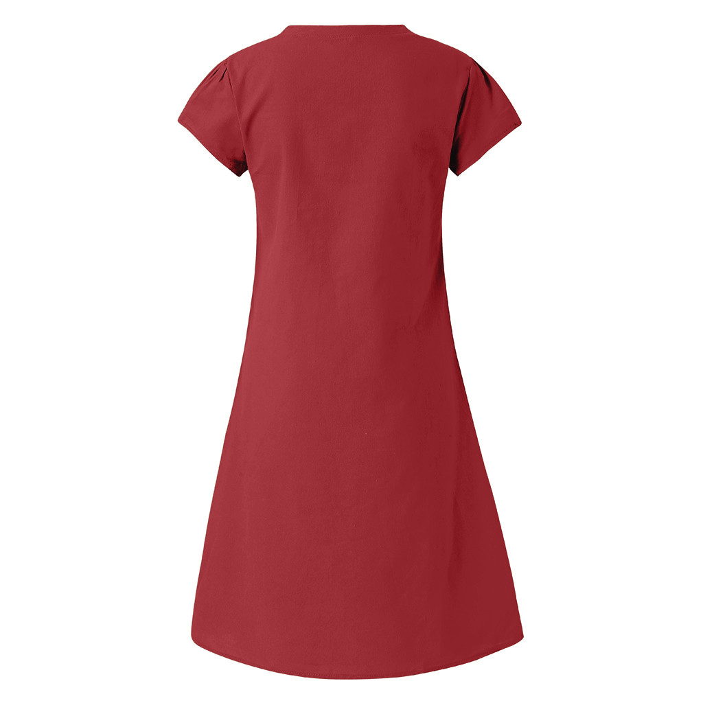 HTB1MWHuN9zqK1RjSZFpq6ykSXXaM Women Summer Dress Style V-Neck Printed Cotton And Linen Casual Plus Size Ladies Dress Fashion Beach Dresses Party S-5XL Dresses