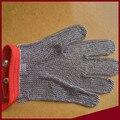 Metal de soldadura de alambre de acero inoxidable nivel 5 resistente al Corte guantes resistentes a los cortes guantes de anillo de hierro guante