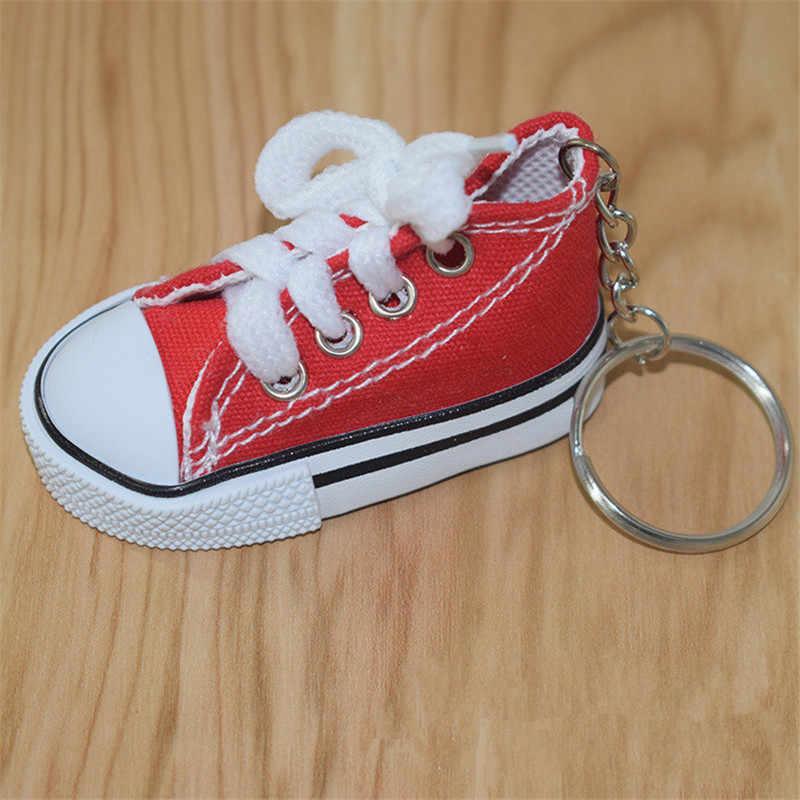 Мини-брелок в форме обуви сумка Шарм для женщин мужчин детей брелок для ключей подарок шикарный брелок в виде кроссовка Автомобильная сумка Подвеска A007