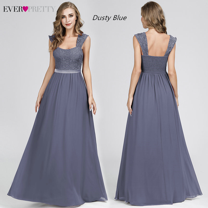 951f02a894 Burgundy Bridesmaid Dresses Elegant Long A-Line Chiffon Wedding Guest  Dresses Ever Pretty EZ07704 Grey Simple Vestido Longo